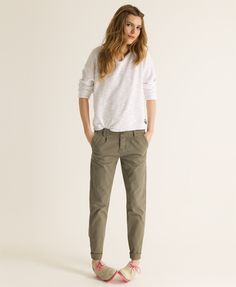 Women's Chinos superdry classic chinos. i like how the cuff makes it tapered VOLYDVT