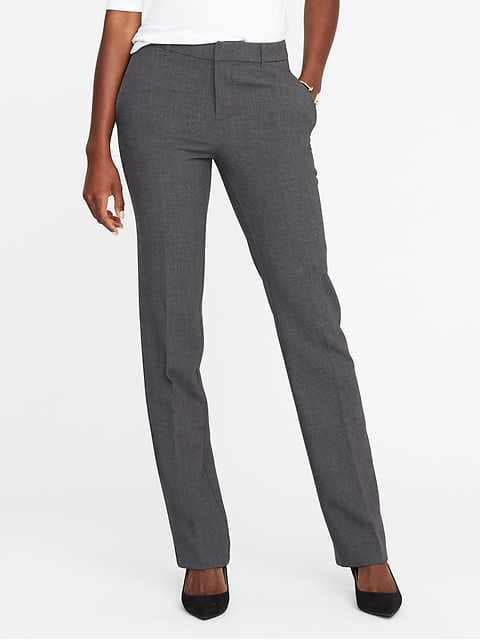 Women's Corduroy Pants mid-rise harper full-length pants for women KPSCRUM