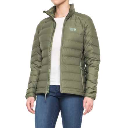 Women's Jackets mountain hardwear stretchdown™ down jacket - 750 fill power (for women) in  stone GEQJAML