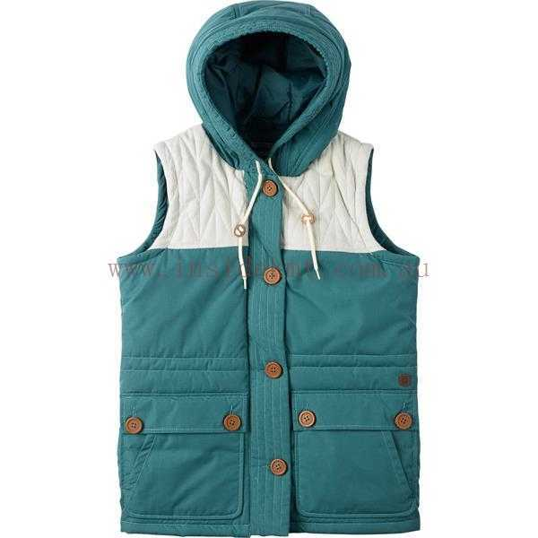 Women's Outdoor Vests burton geneva vest - womens olive night,phantom,sea pine 100% cotton dryride UJYIVTF