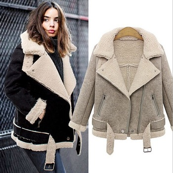Women's Winter Short Coats ey0227a womens winter short shearling sheepskin coat OTIJBOW