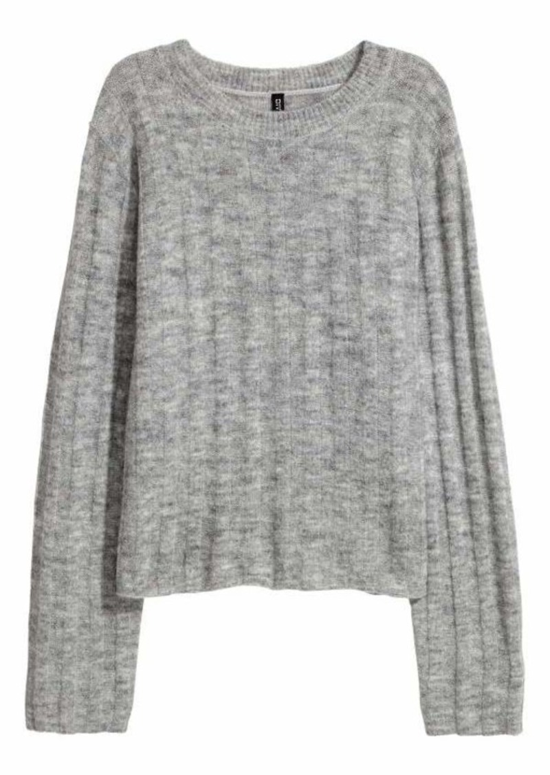 Womens Knit Sweaters h u0026 m - rib-knit sweater - light gray melange - women TVKKXMP
