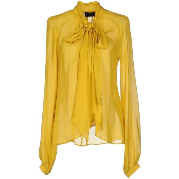 Yellow blouses john richmond blouse ($520) ❤ liked on polyvore featuring tops, blouses,  yellow FJZTDLI