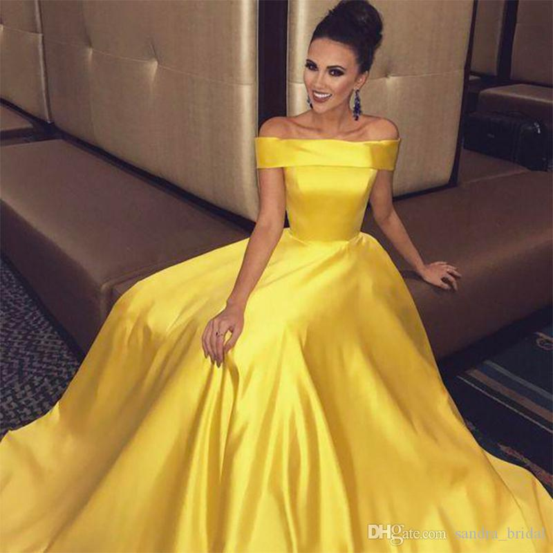 YELLOW EVENING DRESSES lace high low style evening gowns off shoulder long sleeve short front long QQXOWQC