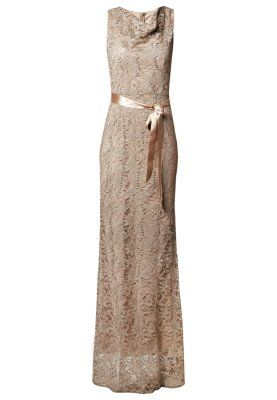 YOUNG COUTURE EVENING DRESSES young couture by barbara schwarzer greige evening dress ZGIECGK