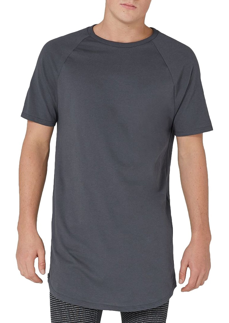 Zipped T-shirts topman side zip longline t-shirt DCXHDJH