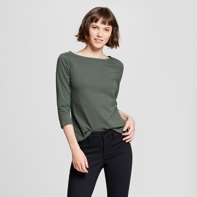 Womenu0027s 3/4 Sleeve Boatneck T-Shirt - A New Day™
