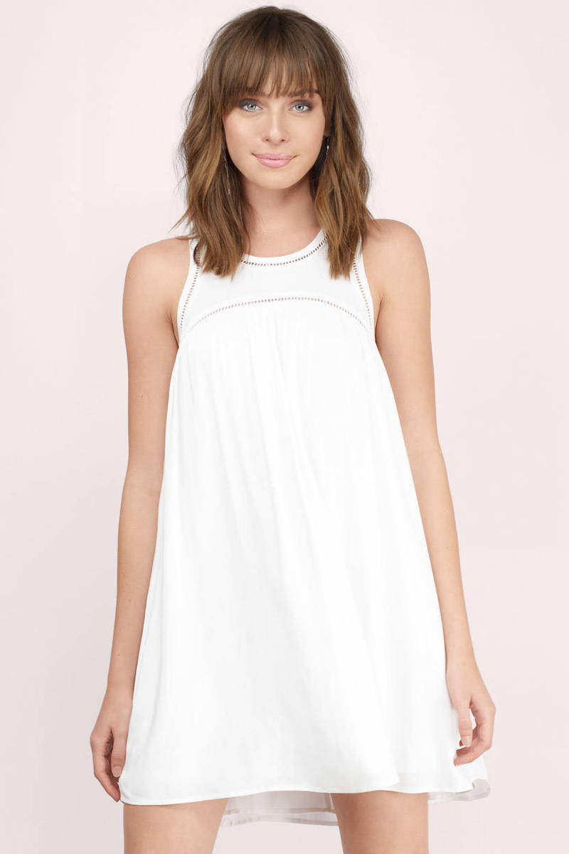 Sweet As Babydoll White Babydoll Dress