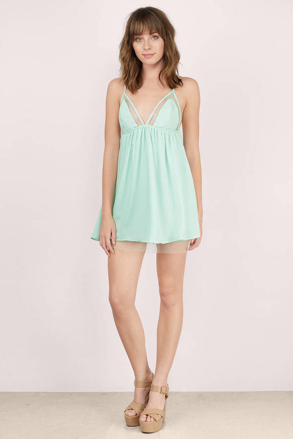 ... Cordelia Mint Skater Dress
