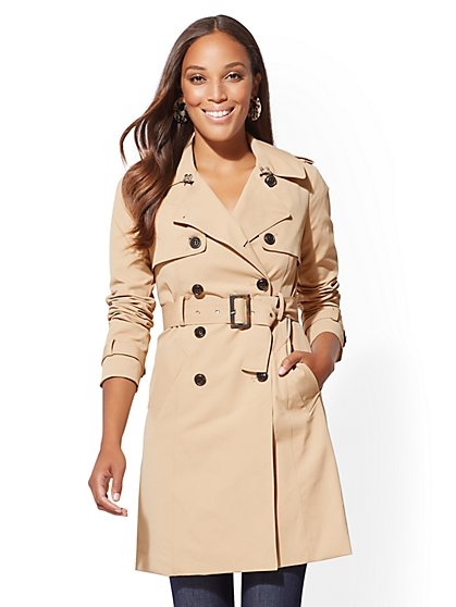 7th Avenue - Belted Trench Coat - New York u0026 Company ...
