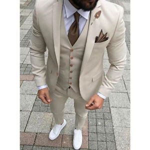 Image is loading Custom-Made-Men-Wedding-Suit-Prom-Tuxedo-Slim-