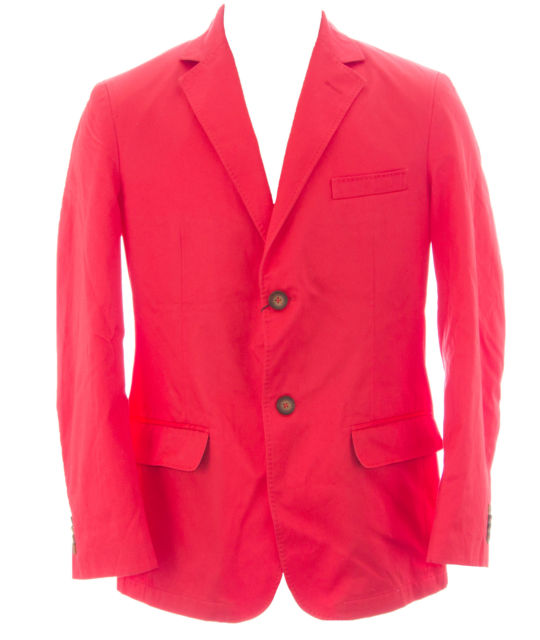 Gant Men's Coral Red Two Button Cotton Blazer 76080 Size 50 $575 NEW