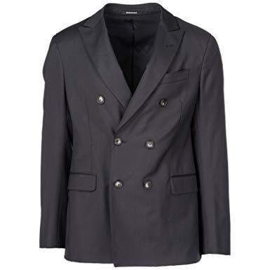 Emporio Armani Men's Double Breasted Jacket Blazer Black US Size 50