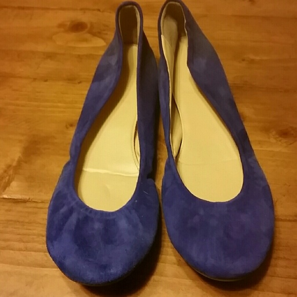 J Crew Royal Blue Ballerina Flats Made in Italy