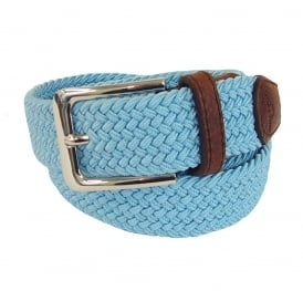 This light blue belt for women is having gorgeous design. It is woven with  light blue thread in a spiral design. This belt is handmade and catches up  the ...