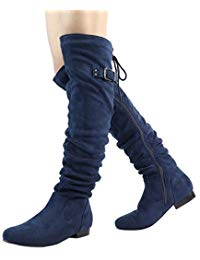 Womenu0027s Fashion Casual Over The Knee Pull On Slouchy Boots