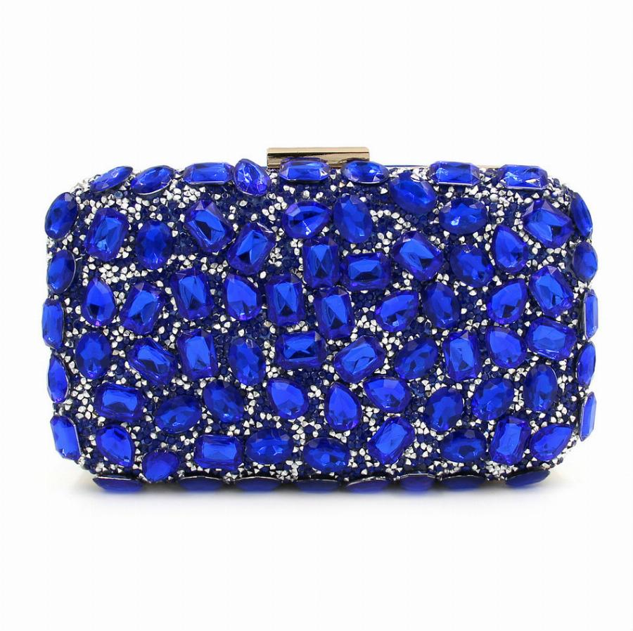 Milisente Clutches Women Evening Clutch Bag Gold Clutches Bags Blue Party  Silver Wedding Purse
