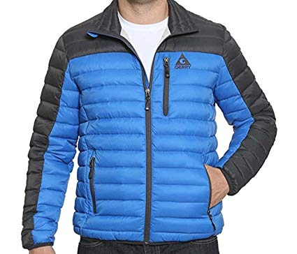 Gerry Mens Sweater Down Jacket (2XL, Blue)