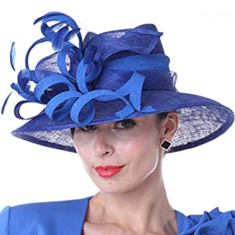 Kueeni Women Hats New Designed Royal Blue Ladies Elegant Hats