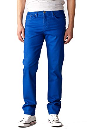 Made in USA Royal Blue Skinny Jeans for Men. Cotton/spandex High Quality (