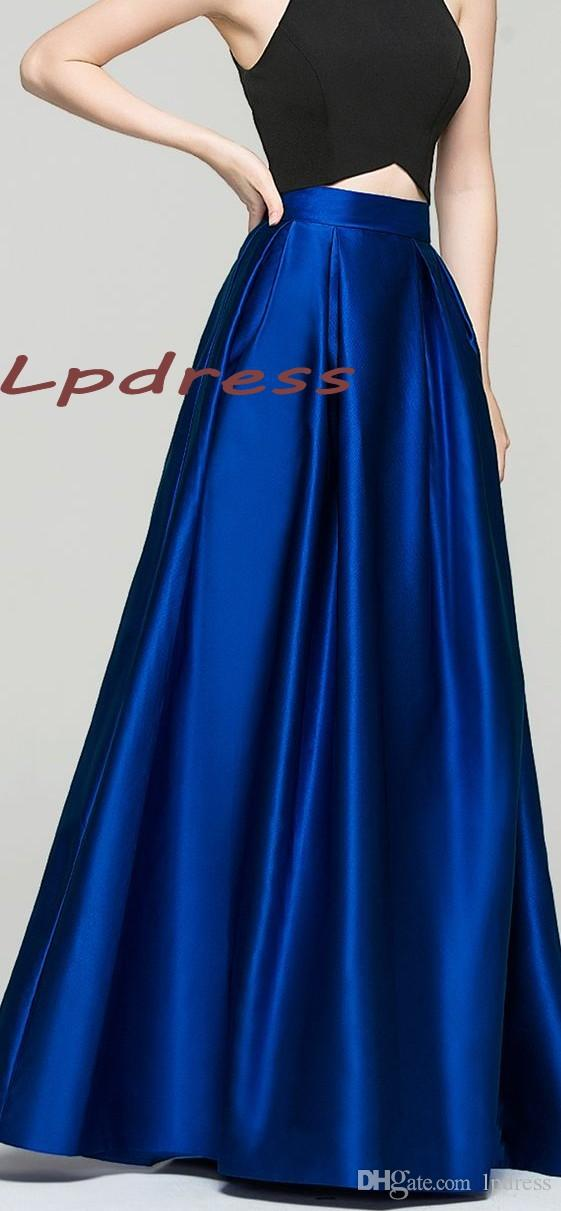 2019 Top Quality Satin Royal Blue Skirts Long With Pockets Skirts High  Quality Long Satin 2016 Fall Winter Skirts Burgundy,Coral,Champagne From  Lpdress, ...