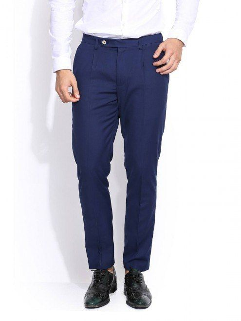 Blue trousers for leisure and work