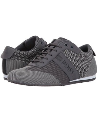 BOSS Hugo Boss - Lighter Low Knitted Sneaker by BOSS Green (Medium Grey)  Men's