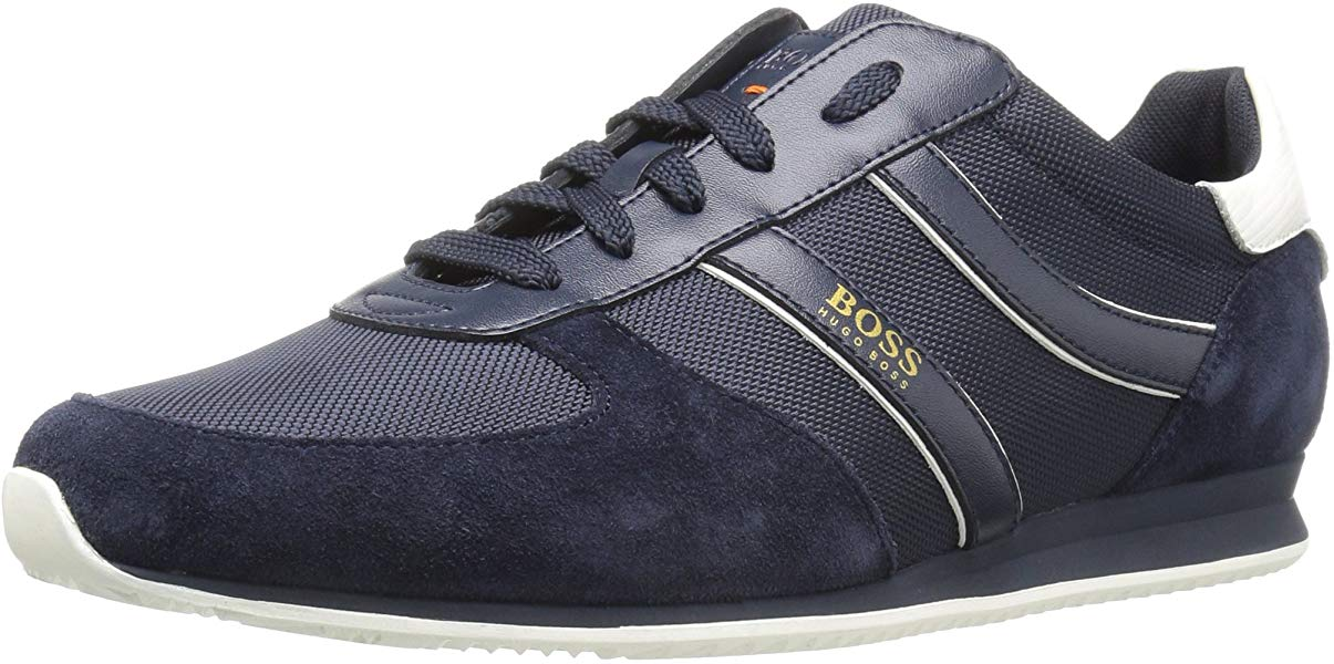 Boss Orange by Hugo Boss Men's Orlando Runn Nylon and Suede Mix Sneaker