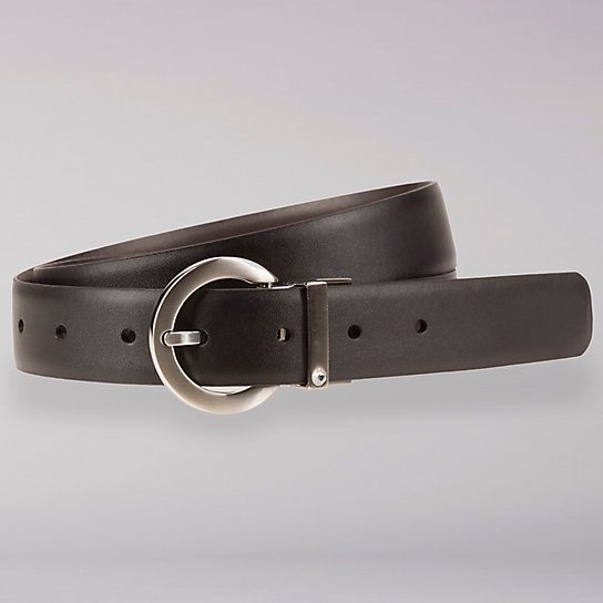 Reversible Black u0026 Brown Leather Belt - Women