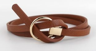 New Design Belts Women Knotted waist Belt thin Fashion Korean Small Belt  Woman Dress decorate brown leather round buckle gifts-in Women's Belts from  Apparel ...