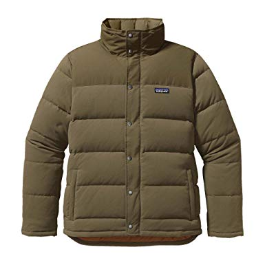 Patagonia Bivy Down Jacket - Men's Fatigue Green/Bear Brown, ...