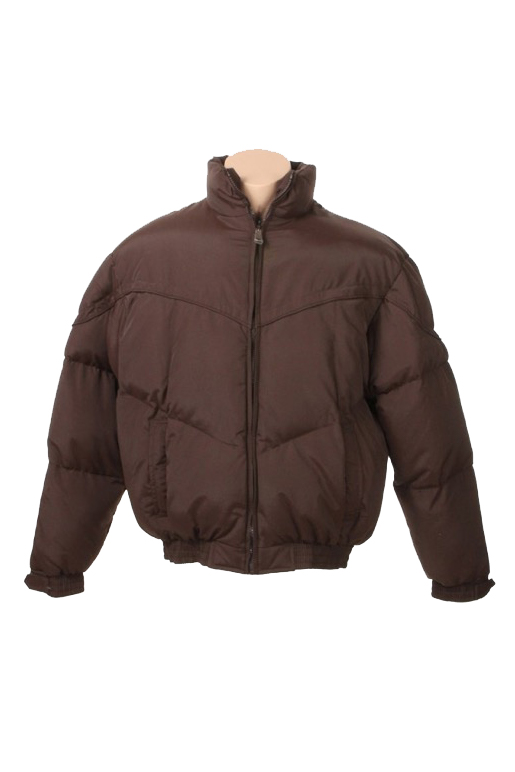 Brown Flannel Lined Waterproof Poly Down Jacket