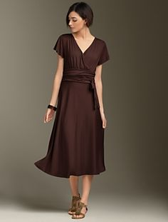 beautiful brown dress (from Talbots) Classic Outfits, New Outfits, Dress  Outfits,