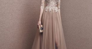 2016 Collection | Stunning Light Brown Evening Gown - Hong Kong | LMR  Weddings