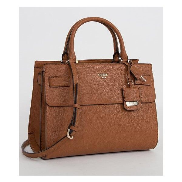 Guess Cate Purse ($118) ❤ liked on Polyvore featuring bags, handbags, brown,  brown bag, guess purses, purse bag, brown handbags and guess hu2026