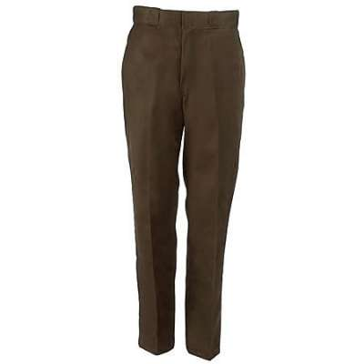 Dickies Work Clothes: Men's Poly Blend Flat Work Pants 874DB