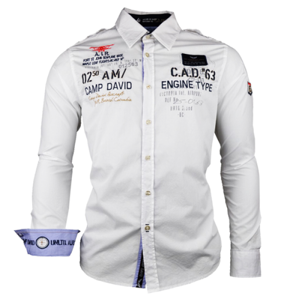 CAMP DAVID SHIRTS – Solid shirts by Camp David – sporty and simple