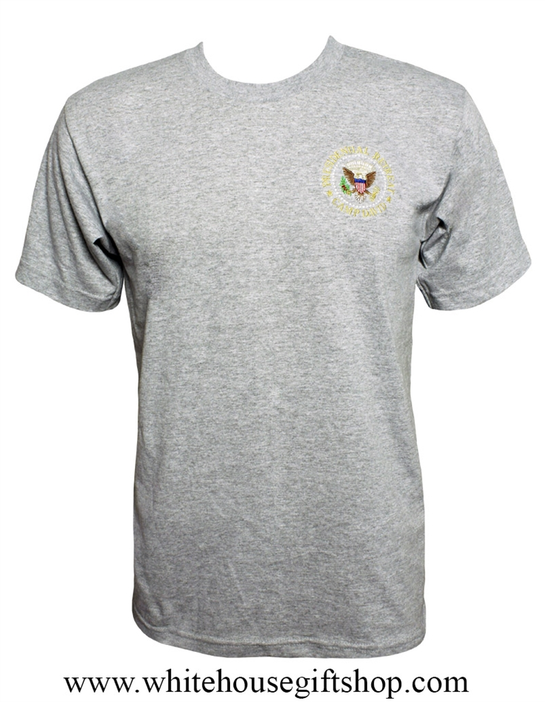 Camp David Presidential Retreat T-Shirt, HUGE SALE, 3X Only ,Made in  America, Gray, Easy Care 100% Cotton, Preshrunk