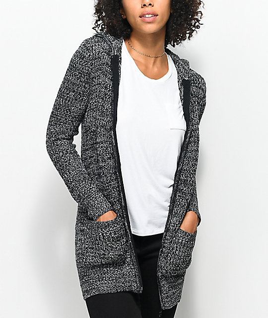 Almost Famous Issy Full Zip Hooded Cardigan ...