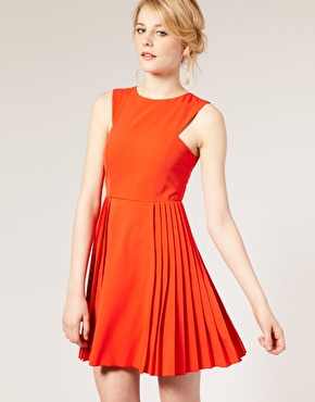 ASOS Tailored Dress With Pleated Skirt:: $71.72