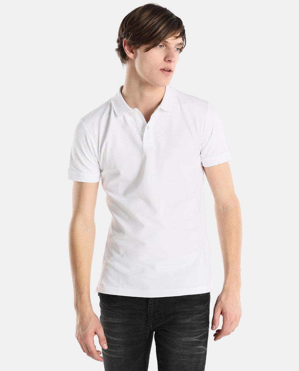 Esprit. Menu0027s Short Sleeved White Polo Shirt