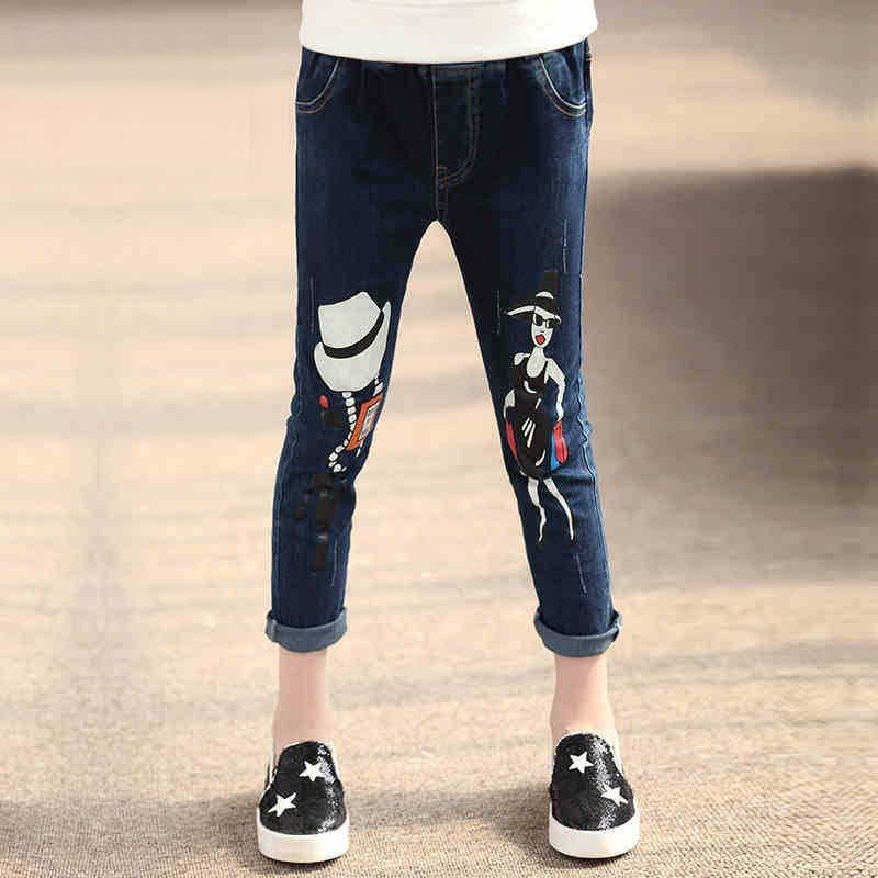 Skinny Jeans Girl Dress Blue Jeans Kids Pants Tapered Jeans Kid Girls Jeans  2015 Autumn Denim Trouser Children Clothes Kids Clothing Girl Dress Blue  Jeans ...