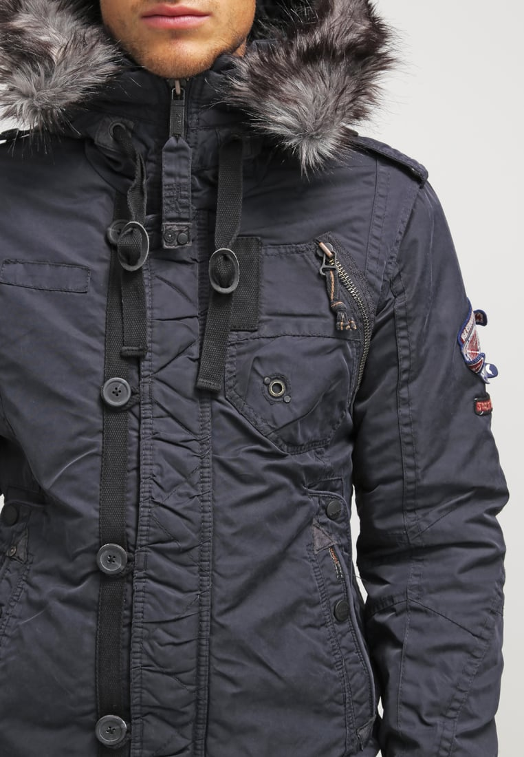 ... khujo GREGOR - Winter jacket - navy Men Jackets ...