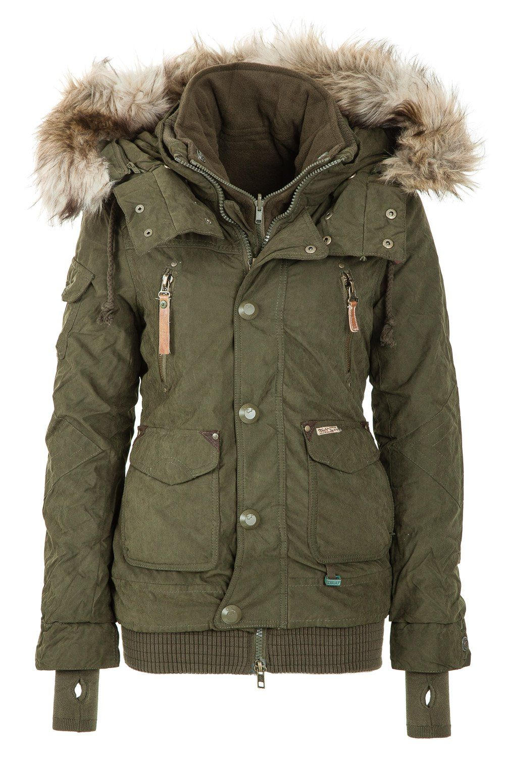 Khujo Women\'s Winter Jacket Margret Olive 320 http://www.