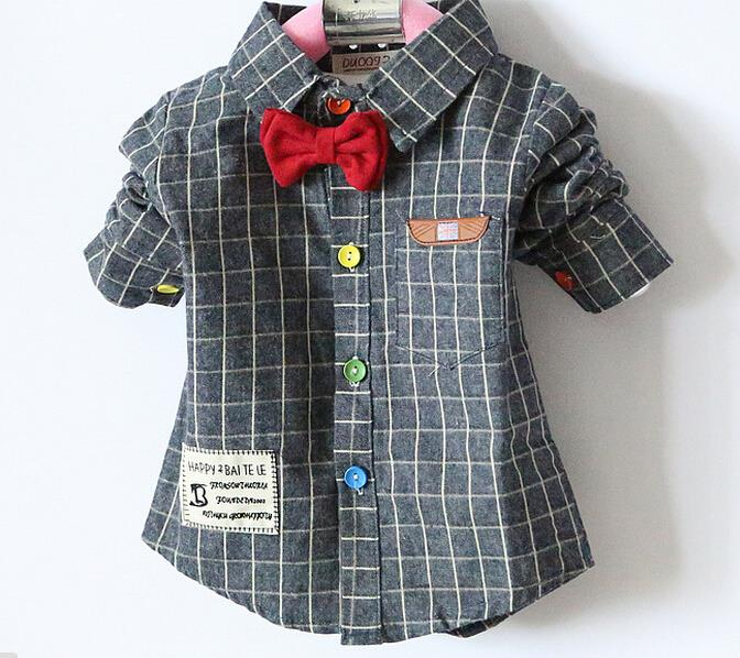 2018 Spring new piece boy baby shirts long sleeve cotton bow tie kids  shirts boy children shirts boys shirts-in Shirts from Mother u0026 Kids on  Aliexpress.com ...