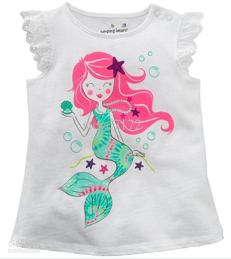 Girls T-shirts Baby Tees Shirts Children Clothing Tank Tops Sleeveless Kids  T Shirts Blouses Jumpers Boys Tshirts Outfits M1640 Tshirts Tee Online with