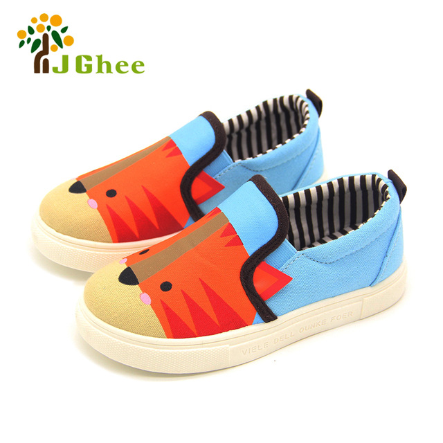 Kids Shoes Boys Girls Cartoon Design Canvas Children Sneakers Casual Shoes  Students Breathable Soft Animal Design