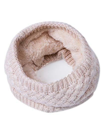 EVRFELAN Infinity Scarf Winter Women Circle Loop Scarves Warm Kids Neck  Warmer Chunky Knit Soft Thick