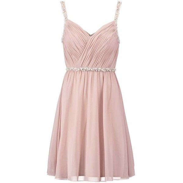 Laona Cocktail dress Party dress cream pink ($165) ❤ liked on Polyvore  featuring dresses, creme dresses, pink cocktail dress, creau2026