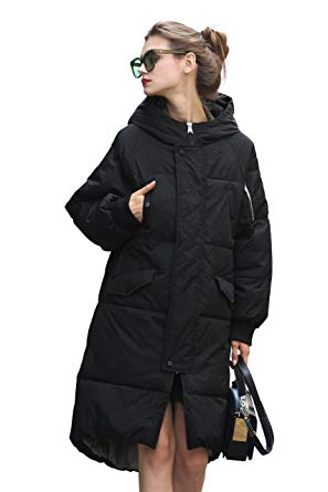 Winter Jacket Coat Women Puffer Anorak Long Coat Quilted Snow Warm Parka  Down Hooded Top Sleeve